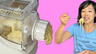 Making Pasta with a Vintage Ronco PASTA MAKER Gadget Test - Does it Work?
