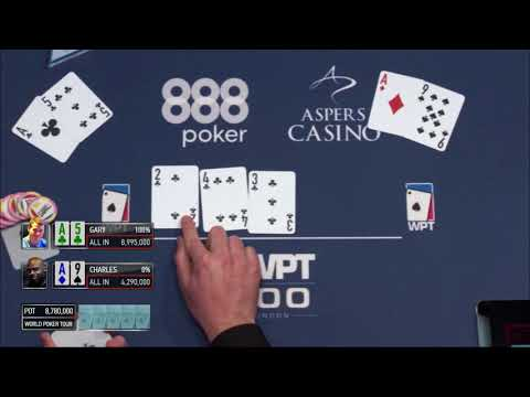 Bad Beat with Straight Flush at WPT500 London Final Table