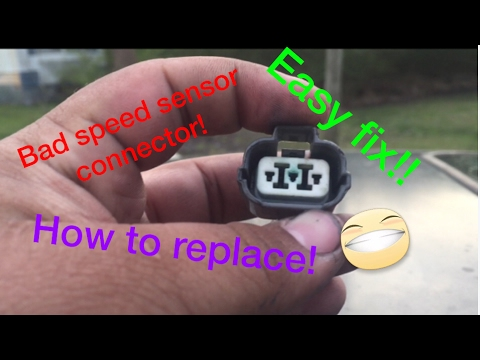 how to replace a bad speed sensor connector on a 9600 civic