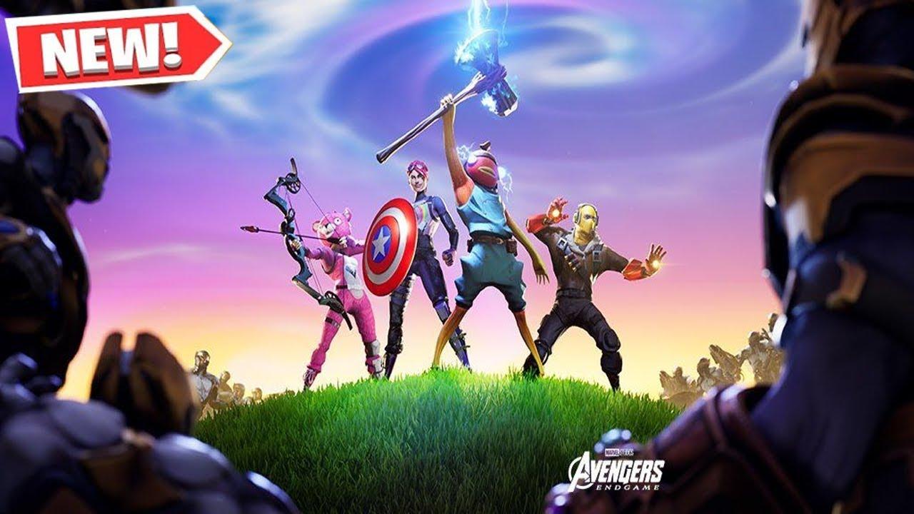 New Fortnite Avengers Gameplay Fortnite Avengers Endgame Event