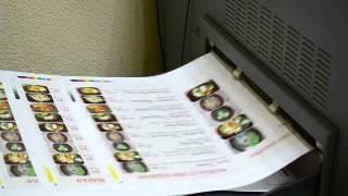 видео Печать и изготовление меню