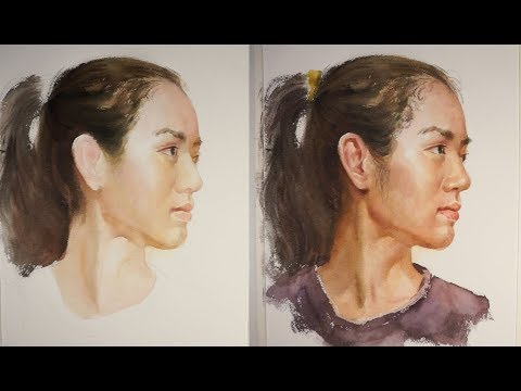 How to Paint Realistic Watercolor Girl's Portrait