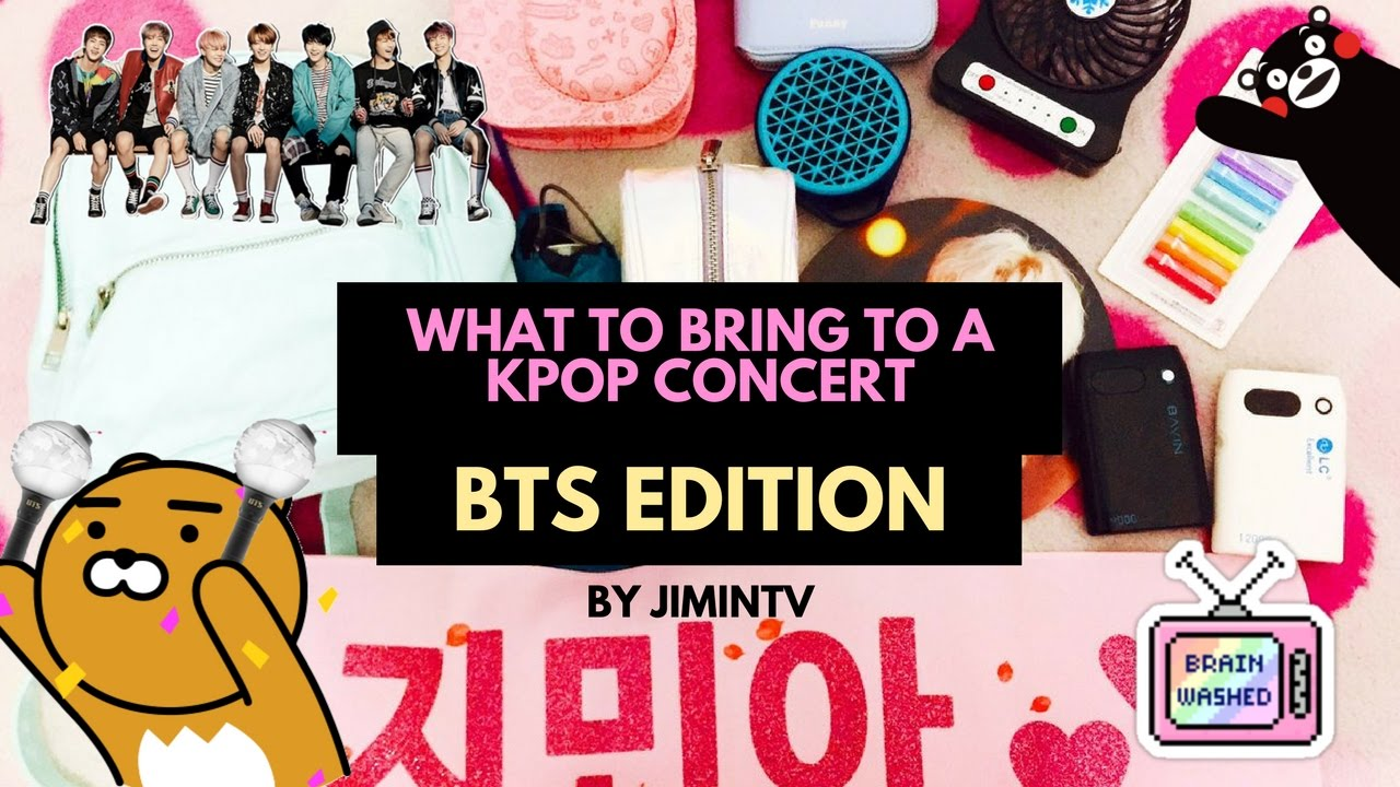 ❔ what to bring to a kpop concert? 🎤 (army edition)