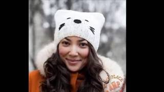 ШАПКА-КОШКА с ушками - спицами - 2019 / CAT HAT ears with needles / CAT HAT Ohren mit Nadeln