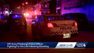 Off-duty Pittsburgh police officer shot in Homewood