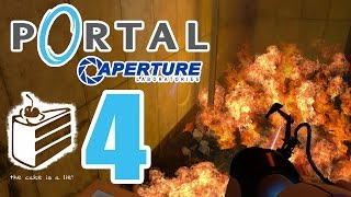 Let's Play Portal Part 4: The cake is a lie