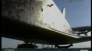 Aн-225 забирает Буран в Ле-Бурже с Байконура 1989