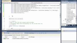 Automated UI testing with Visual Studio 2010