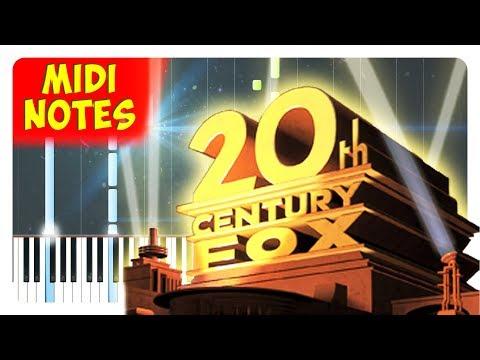 20th Century Fox  Intro Theme Piano  Piano Sheets + midi