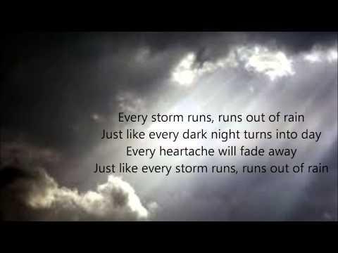 Every Storm (Runs Out of Rain) Lyrics - Gary Allan
