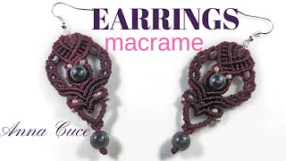 "MACRAME EARRINGS tutorial ""Valery""/  macrame orecchini tutorial"