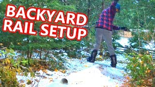 Backyard Snowboarding Rail Setup!!!
