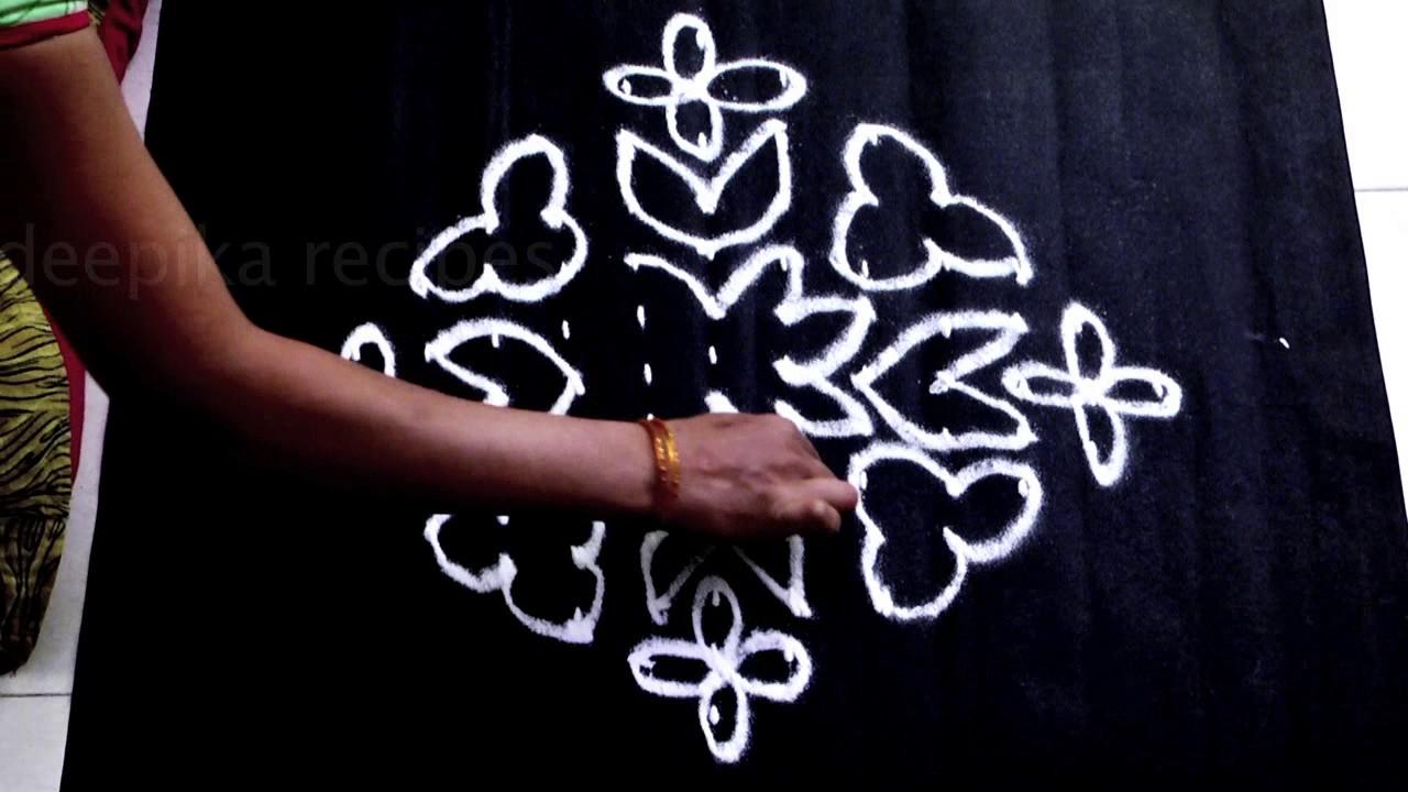 Easy N Creative Rangoli Designs With 13 1 Dots Chukkala Muggulu