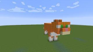 как построить оранжевого кота в minecraft