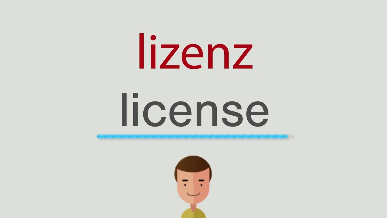 Lizenz Auf Englisch