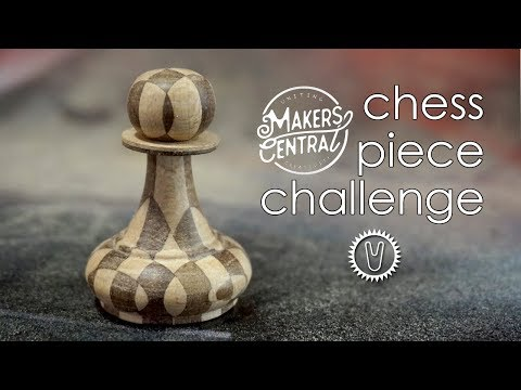 Bandsaw woodturning - Makers Central Chess Piece Challenge