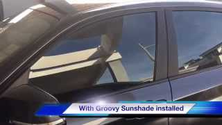 Groovy sunshade - before & After Installed