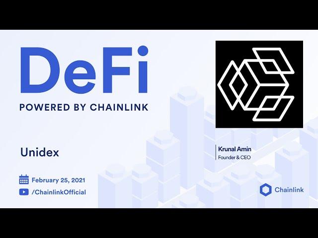 Unidex and Chainlink Live Demo + Q&A: Blockchain Oracles Powering Decentralized Exchange Aggregators