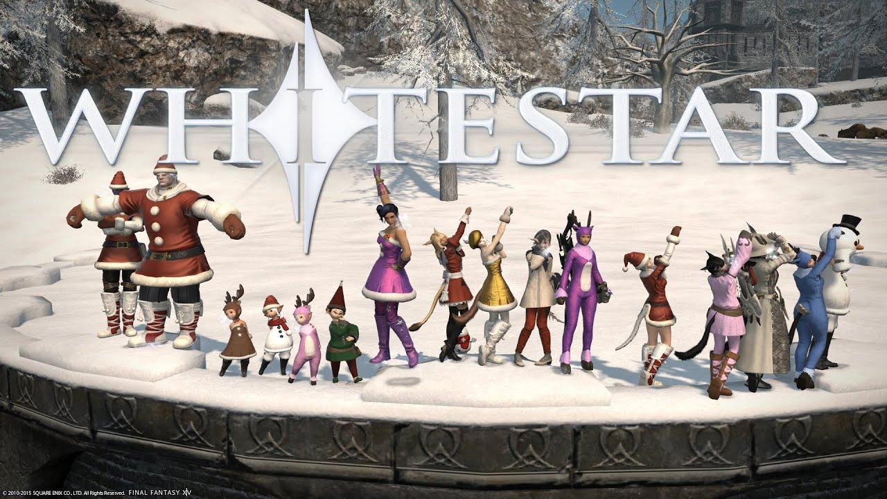 Whitestar FFXIV Christmas Party 2015 - YouTube