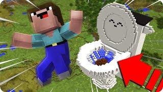 NOOB KAKA DOLU DEV TUVALETİN İÇİNE DÜŞÜYOR! - Minecraft