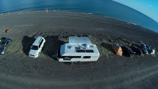 Стоянка домов на колесах в Крыму. Морское