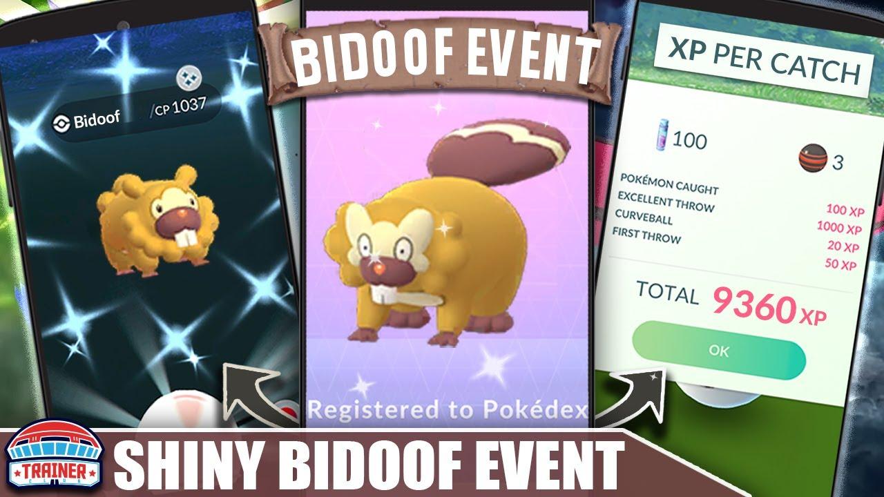 INSANE XP GAINS! 4X CATCH XP - SHINY *BIDOOF BREAKOUT* EVENT - SHINY BIBAREL | Pokémon GO