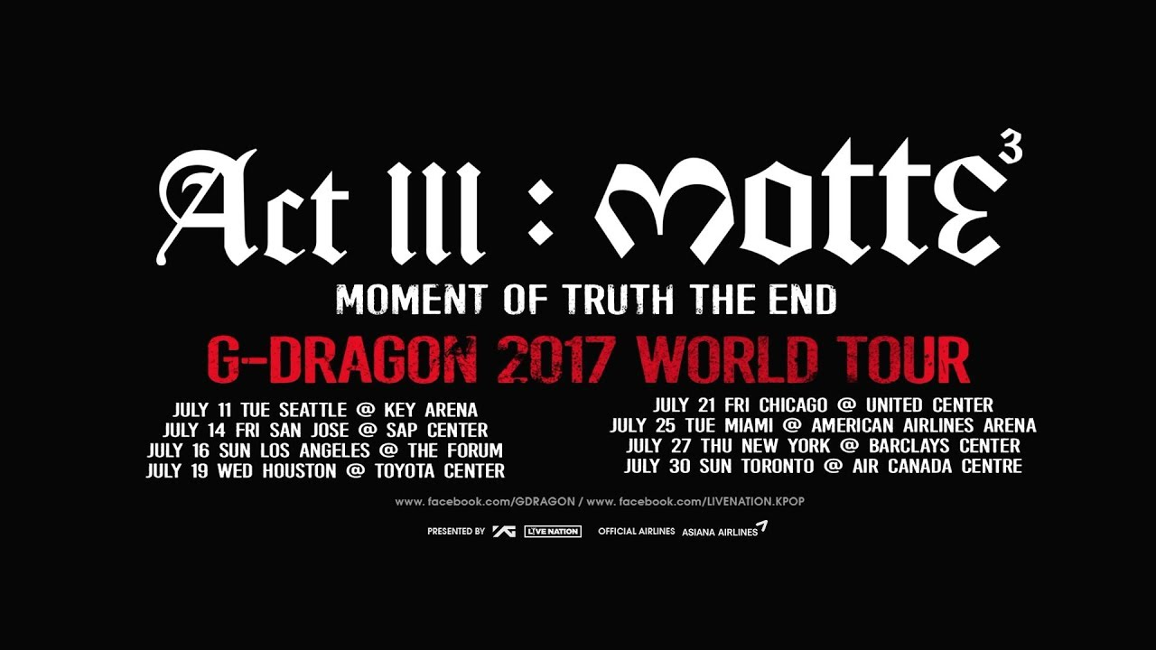 Image result for G Dragon motte tour images