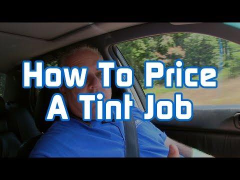 How to Price a Tint Job
