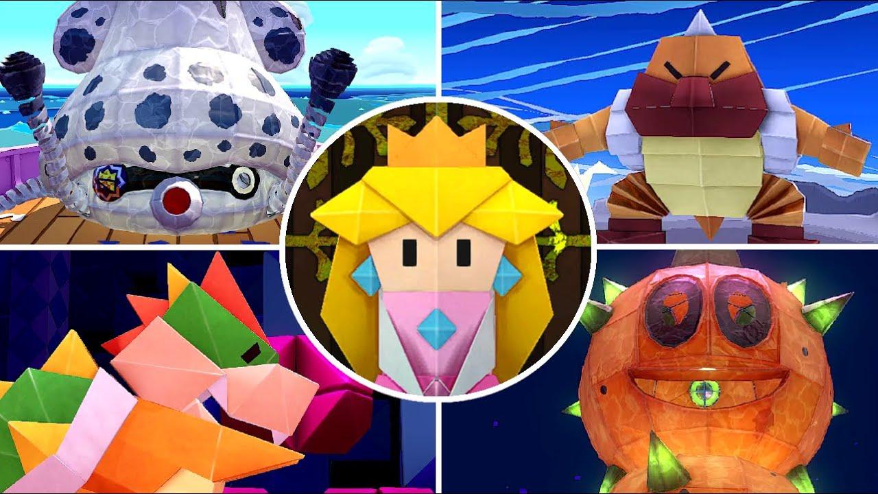 Paper Mario: The Origami King - All Bosses + Secret Ending
