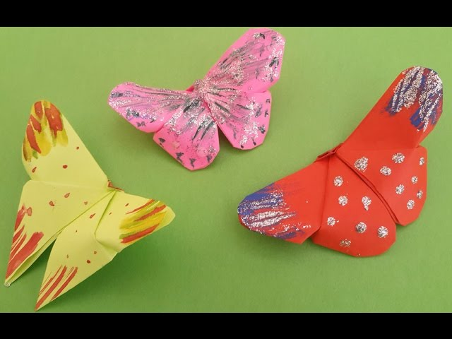 How to make Origami Butterfly - YouTube | 480x640