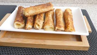 Тосты с сыром в форме рулетиков для ленивого завтрака