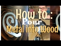 How to | Metal inlay in Wood #popularmmos #playbutton