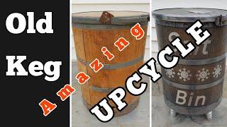 Upcycled Hardware Keg turns into a Storage Stool.