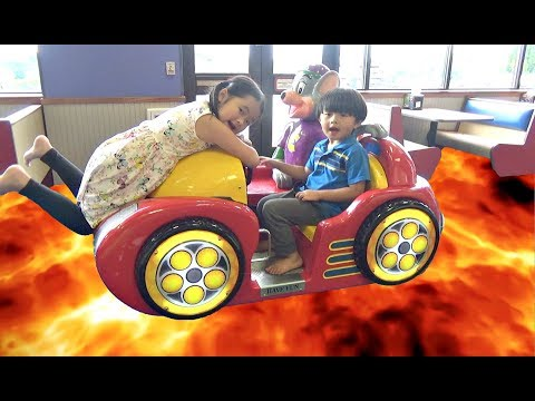 Thumbnail: THE FLOOR IS LAVA CHALLENGE at Chuck E Cheese! Family Fun Kids Pretend Playtime