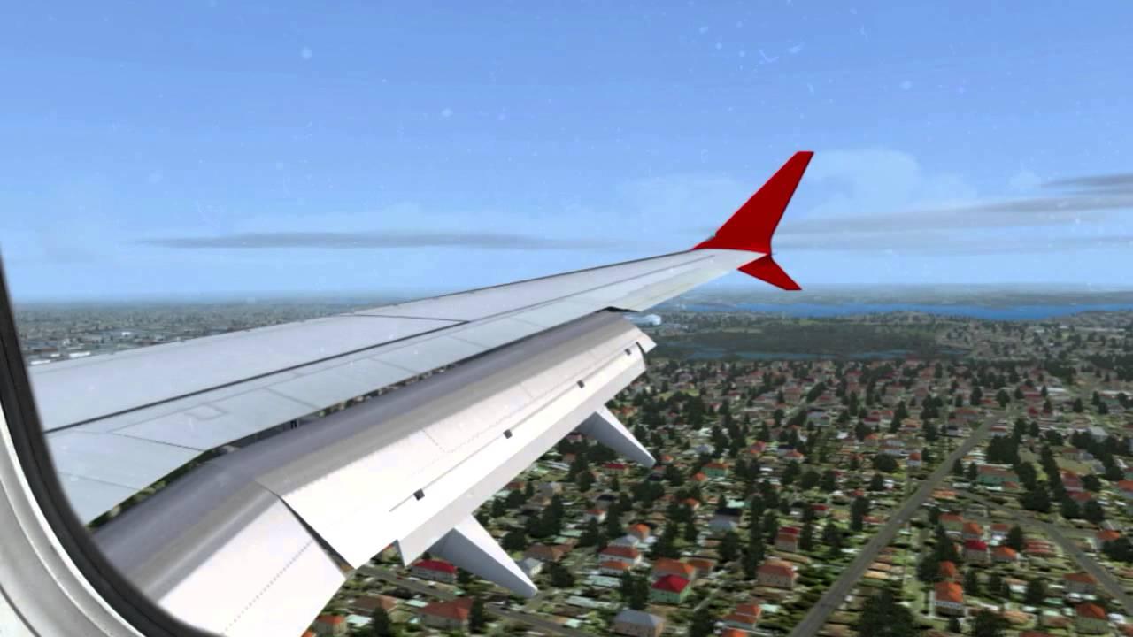✈FSX B737 Max 8 Virgin Australia Approach in to Sydney (YSSY) ✈ HD