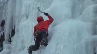 Neil Gresham Ice Climbing in Iceland