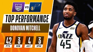 Donovan Mitchell Puts up 42 PTS in Jazz win! 🕸