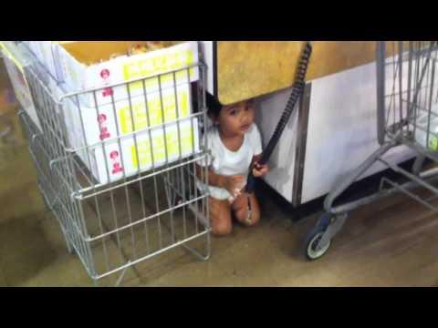Amina at grocery store.