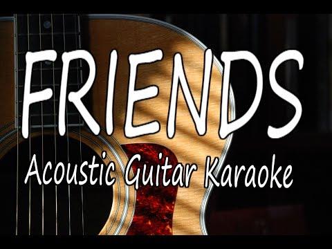 Friends - Marshmello & Anne-Marie (Acoustic Guitar Karaoke)