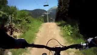 Downhill Mountain Biking in Alps 2011 GoPro - Morzine, Chatel, Les Gets