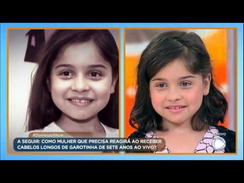 Pequena Raiane mostra seu novo visual e conhece Andreia, que ganhou uma peruca com o seu cabelo