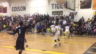 Calvin Young Dunk on 2 Defenders To Beat Rival Edison