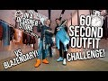 60 SECOND OUTFIT CHALLENGE VS BLAZENDARY! ($2000+ OUTFITS!)