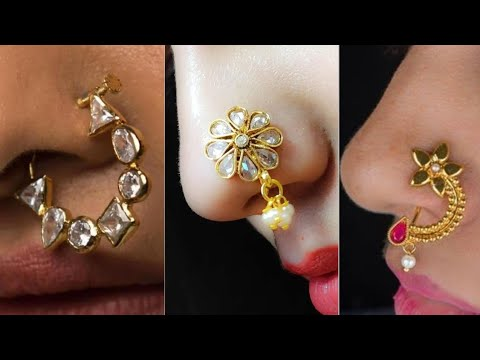 Latest Gold Nose Pin Designs For Girls Wedding Nose Pin Designs
