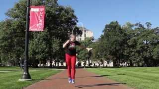 縄跳び世界チャンピオンにもなった女子大生が華麗に跳ぶ!