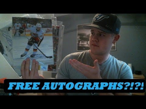 How to get FREE AUTOGRAPHS from your Favourite Athletes! GIVEAWAY!!!