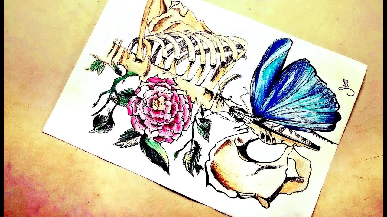 Drawing Tutorial as drawing a skeleton tumblr como dibujar un