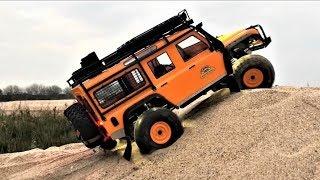 RC Car Traxxas TRX4 Defender(Orange) Sand Trail Adventure