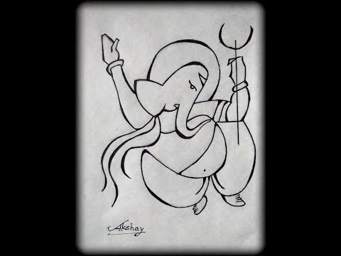 ad0f1bc48718d How To Draw Lord Ganesha - Very Easy Drawing for kids - Art Maker Akshay