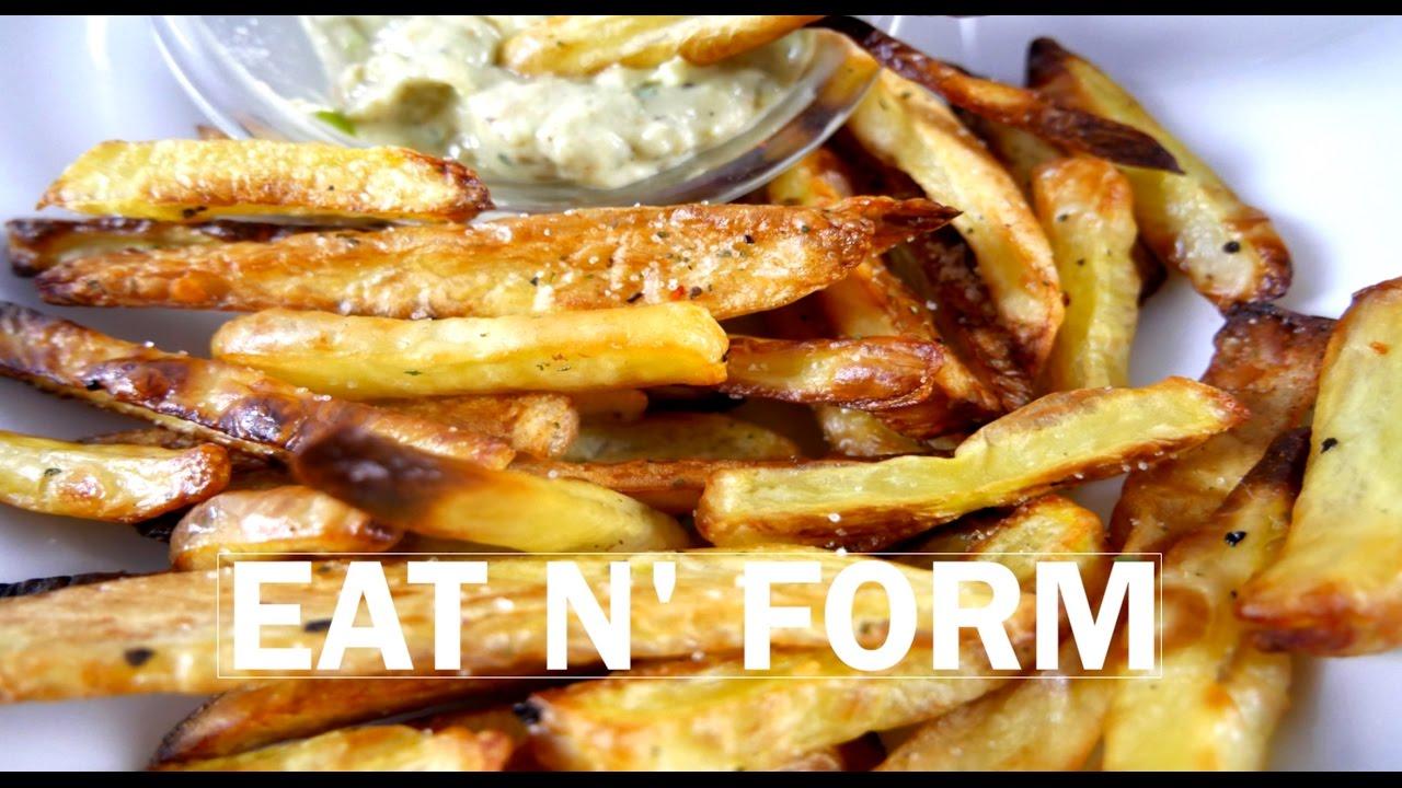 pommes selber machen fitness rezept f r pommes frites im. Black Bedroom Furniture Sets. Home Design Ideas
